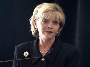 Gov. Beverly Perdue outlines her plan to streamline state government during a Dec. 9, 2010, speech to business leaders in Pinehurst.