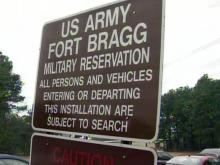 Fort Bragg security sign
