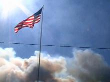 Raw: Dense smoke from Onslow County wildfire