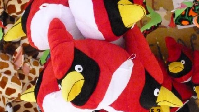"Characters from the popular ""Angry Birds"" game were much in evidence at the North Carolina State Fair."
