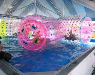 The new water rollers are open on both sides and sturdier than the water walking balls.