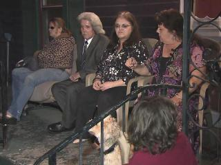 Family members gathered to mourn Melissa Johnson Friday. She was killed by a hit-and-run on Jan. 1, 2012.