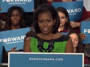 Michelle Obama speaks at North Carolina Central University on Sept. 19, 2012.