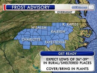 Frost advisory 11/1/12