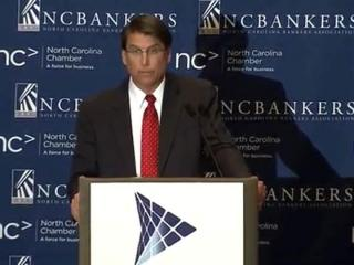 Gov.-elect Pat McCrory addresses the annual economic forum of the N.C. Chamber and N.C. Bankers Association on Jan. 2, 2012.