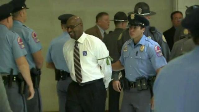 """More than 70 protesters were taken to jail during the weekly """"Moral Monday"""" protests at the North Carolina General Assembly on July 22, 2013,, bringing the total number arrested in the legislative session to 925."""