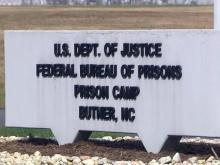 Butner prison sign