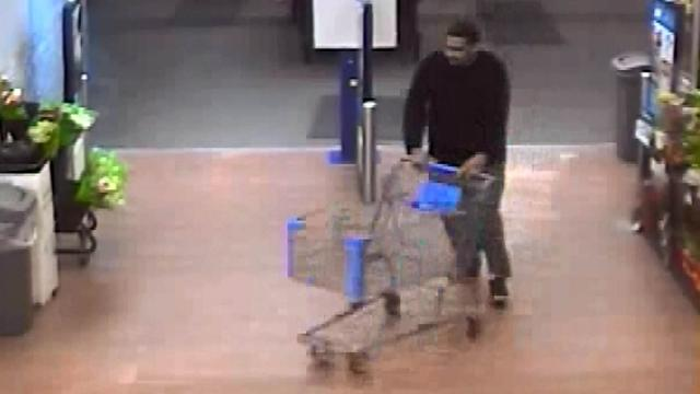 Spring Lake police are trying to identify a man seen in Walmart security video on Feb. 14, 2015, shortly before a man who left the store with him was found shot to death.
