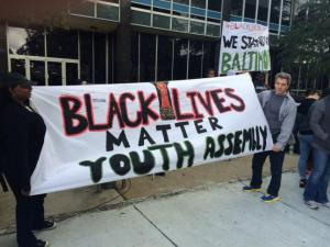 A march and rally were held in Durham Friday, May, 1, 2015 in support of Baltimore protesters angered by the death of a black man in police custody.