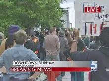Hundreds march through Durham in support of Baltimore