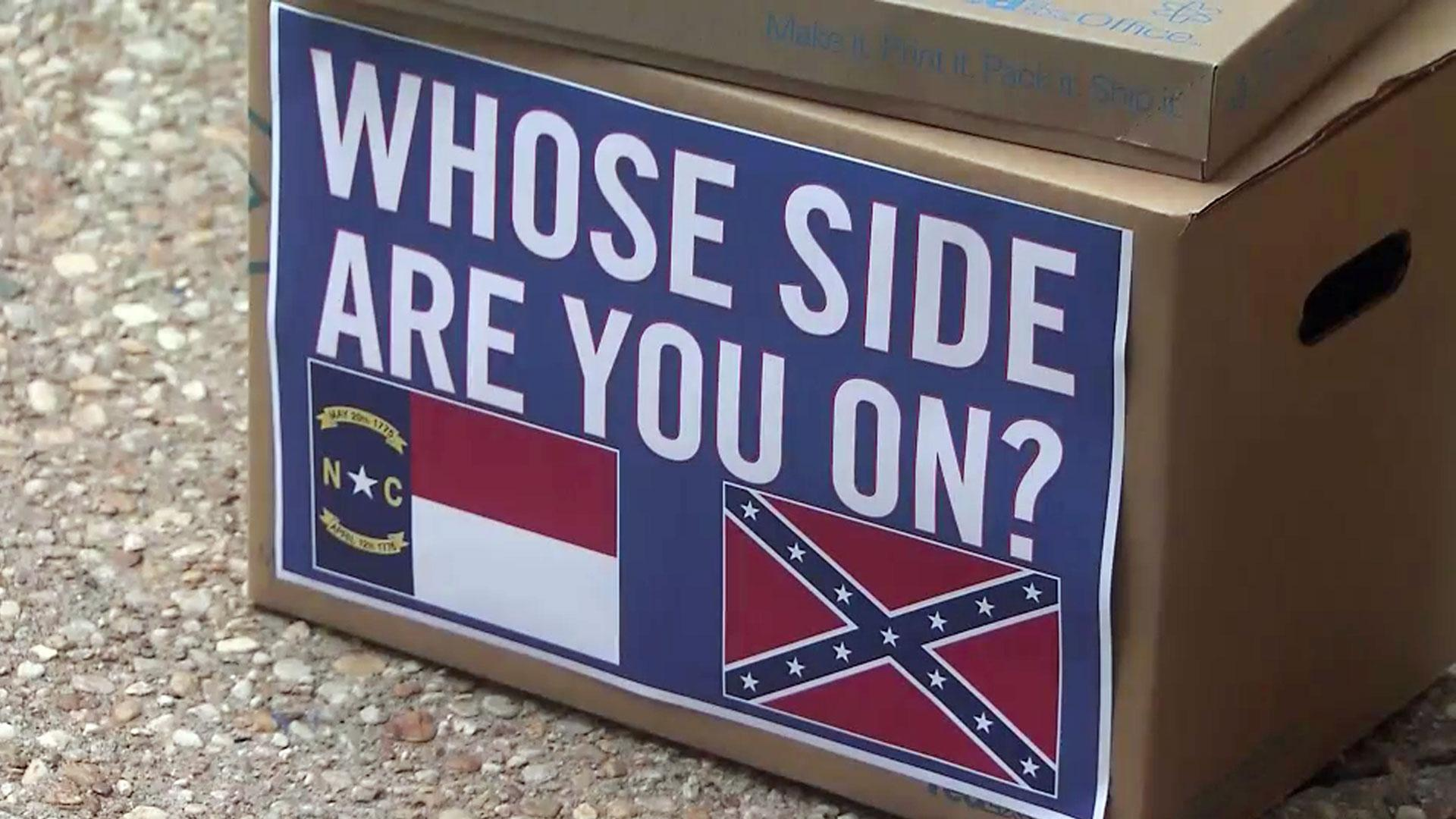Quick anger, little action on Confederate plates in NC