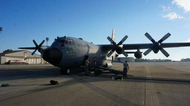 It's the end of an era at Fort Bragg. The last C-130 cargo plane based at Pope Field has flown away.