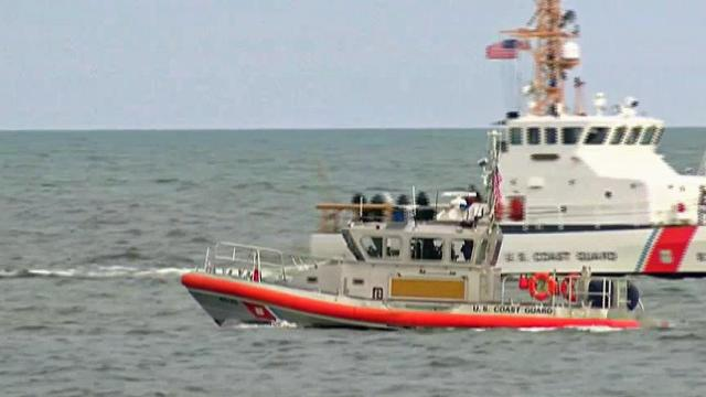 With boats and helicopters, the Coast Guard searched for a man who jumped into the ocean from the Kure Beach pier.