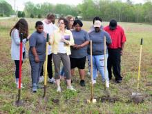 Family, friends pray at home-site groundbreaking in Onslow County