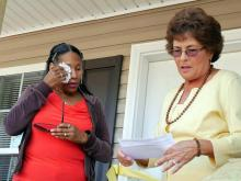 Wanda Weaver gets emotional at home dedication