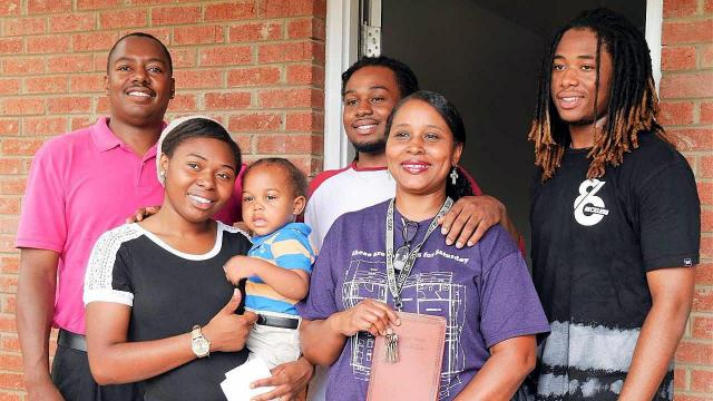The Conrad family, from left: Dad Mark, daughter Porshe, grandson Ormond, son Mark Junior, mom Jamie and son St. Andrew.