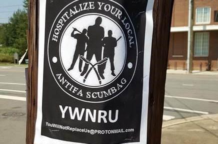 Flyers advocate violence