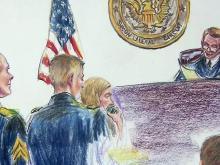 Bergdahl court sketch
