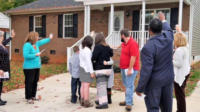 The house in Lexington was dedicated on Nov. 5, 2017.
