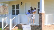 IMAGES: 2-year journey ends with Ahoskie home