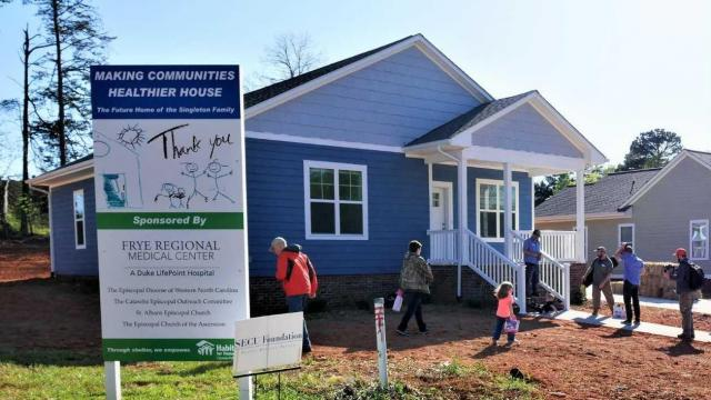 The Singleton family will move into their new home in Hickory soon. It was dedicated April 19, 2018.