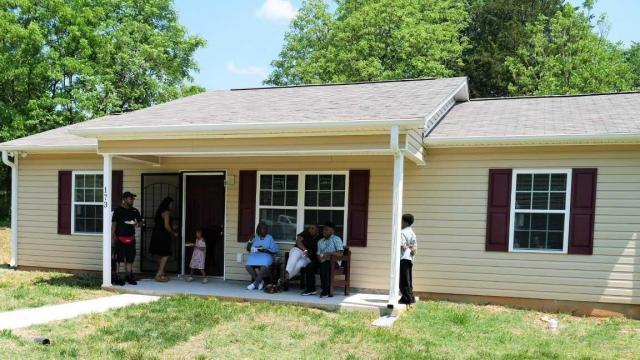 First Habitat for Humanity home in Caswell County