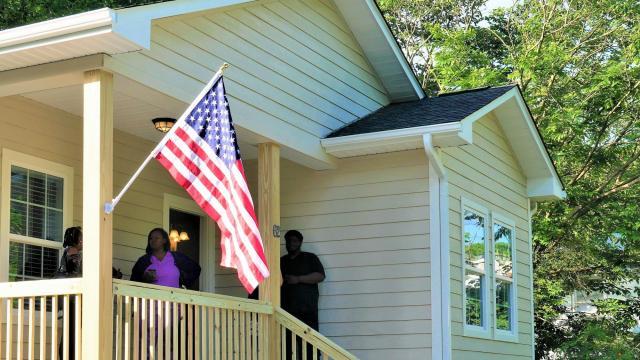 Broad stripes, bright stars for Paditra Carlton's new home