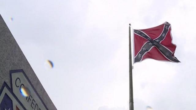 Flag stirs reverence and revulsion