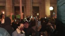 IMAGES: Jubilant crowd celebrates Election Day at Graham courthouse rally