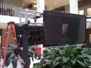 Flat-screen TVs were installed in the Legislative Building on Jan. 25, 2011, to televise the opening session of the 2011 General Assembly.
