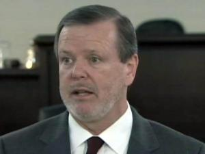Senate President Pro Tempore Phil Berger holds a weekly press briefing on Feb. 1, 2011.
