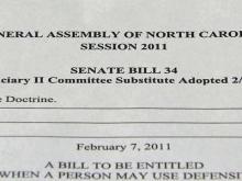 Senate tentatively OKs presumption for deadly force