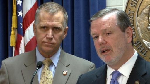 NC House Speaker Thom Tillis and Senate Pro Tem Phil Berger