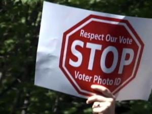 Anti-voter ID bill sign