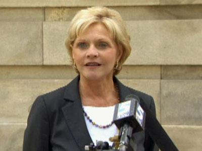 Gov. Bev Perdue speaks during a press conference on June 3, 2011.