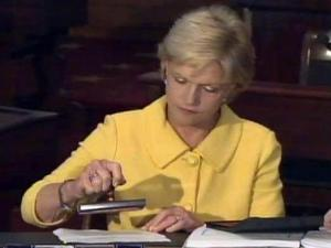 Gov. Beverly Perdue vetoes the legislature's $19.7 billion spending plan for 2011-12 on June 12, 2011, saying it moved the state in the wrong direction.