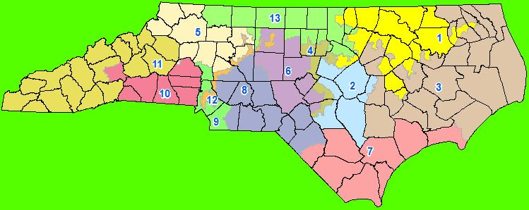 The proposed map of congressional districts, July 1, 2011