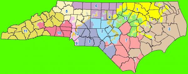 The revised proposal for new congressional districts, July 19, 2011.