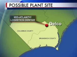 Mid-Atlantic Logistics Center, site for Brunswick tire plant
