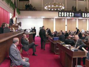 The House held a late-night session on Jan. 5, 2012, to override a veto of legislation barring the N.C. Association of Educators from collecting member dues through payroll deductions.