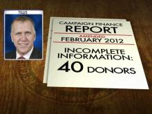 Tillis promises to correct finance report errors