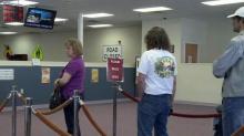 Line at DMV license office