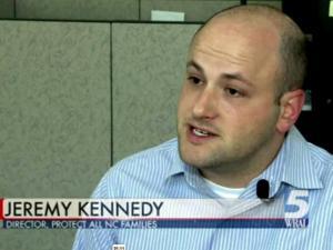 Anti-marriage amendment leader Jeremy Kennedy.