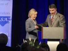 Gov. Beverly Perdue gets education honor