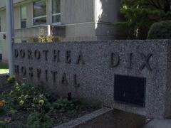 Dorothea Dix Hospital sign
