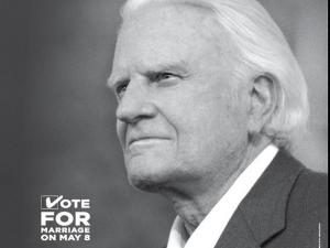 Billy Graham ad backs constitutional amendment.