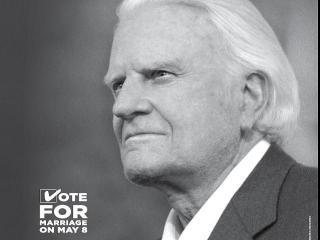 Billy Graham ad backs constitutional amendment.