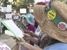 'Fracking' opponents rally as Perdue weighs options