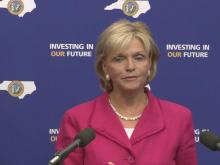 Perdue news conference on state budget