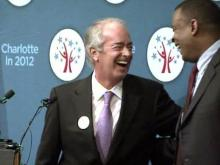 Duke Energy CEO Jim Rogers with Charlotte Mayor Anthony Foxx